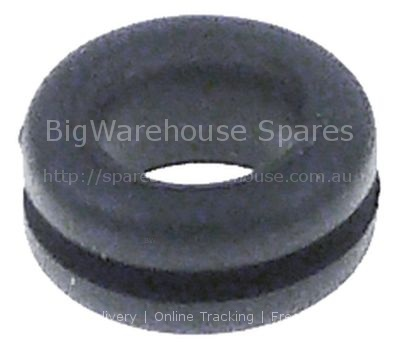 Cable gland ID ø 10mm mounting ø 12mm Neoprene -30 up to +120°C