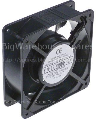 Axial fan L 119mm W 119mm H 38mm 230VAC 50/60Hz 22/21W bearing b