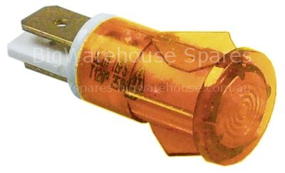 Indicator light ø 12mm yellow 230V connection male faston 6.3mm