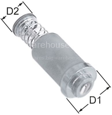 Magnet unit standard L 39mm D1 ø 15,4mm D2 ø 11mm suitable for P