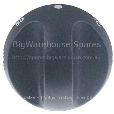 Knob thermostat t.max. 300°C 50-300°C ø 70mm shaft ø 6x4.6mm sha