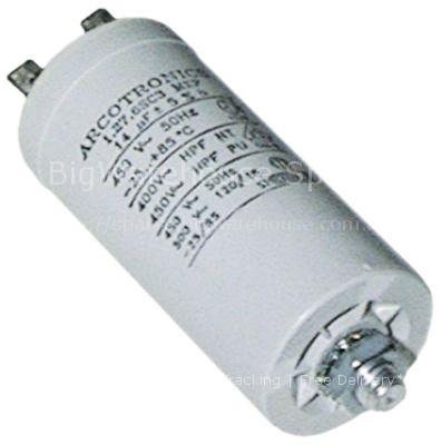 Operating capacitor capacity 6,3µF 450V  tolerance 5% 50Hz