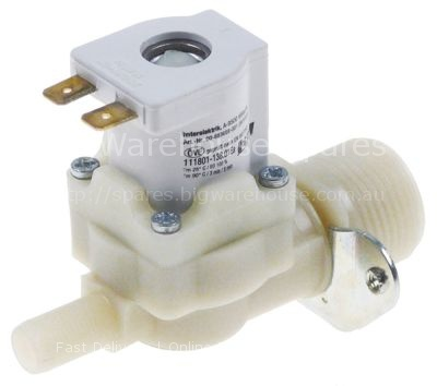 "Solenoid valve single straight 230VAC inlet 3/4"" outlet  input 5"