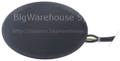 Hot plate 100-240V heating circuits 1 ø 125mm connection plug-in