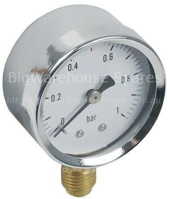 Manometer ø 52mm pressure range 0 up to 1bar connection marking