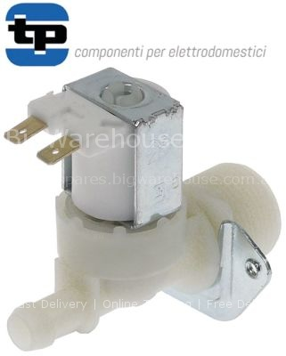 "Solenoid valve single straight 230VAC inlet 3/4"" outlet 11,5mm D"
