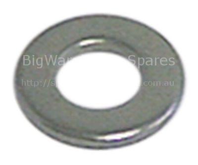 Plain washer ID ø 6,4mm ED ø 12mm thickness 1,6mm SS Qty 20 pcs