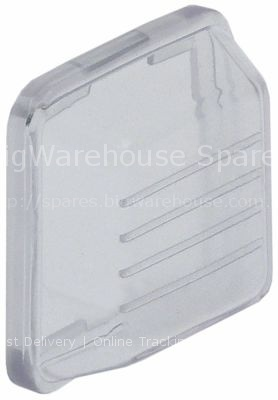 Protective cover external size 35x35mm H 11mm transparent suitab