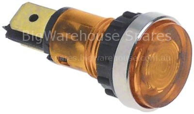 Indicator light ø 12mm 400V yellow connection male faston 6.3mm
